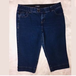 Lane Bryant Size 20 Blue Denim Capri